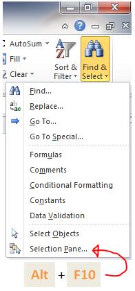 Excel Tips - Alt F10