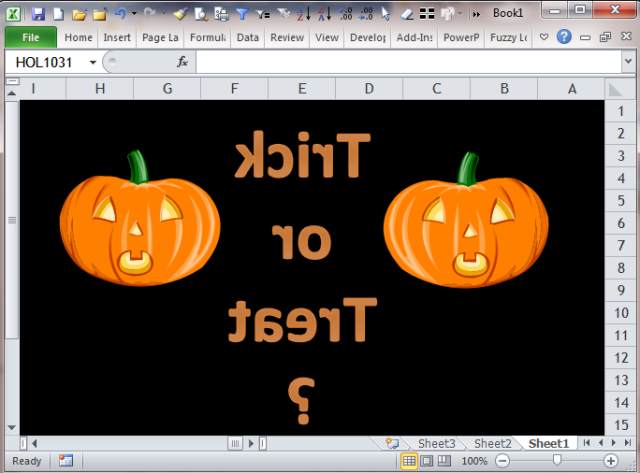 Excel Tips - Trick or Treat 20151