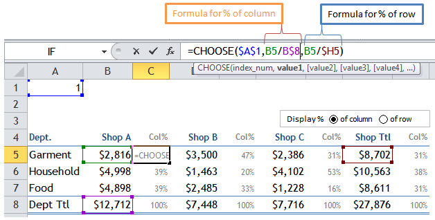 Display Percentage Row or Column 2