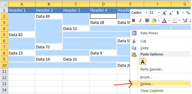 Excel Tips - Move cells with data to the top2