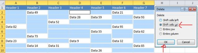 Excel Tips - Move cells with data to the top3