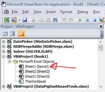 Excel Tips - Look into hidden sheet2