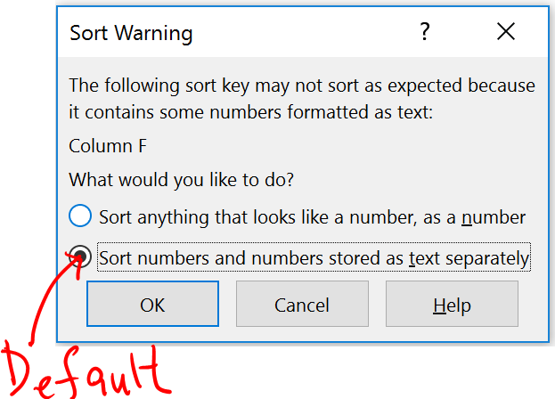 Excel Tips - Sort Warning 7.PNG