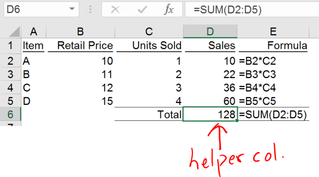 Excel Tips - SUMPRODUCT basic 2