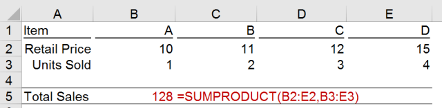 Excel Tips - SUMPRODUCT basic 7
