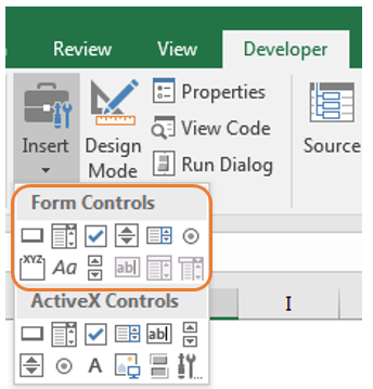 Activex Control Excel 2016