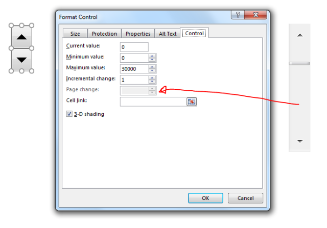 Excel Tips - Form Controls Spin Scroll.PNG
