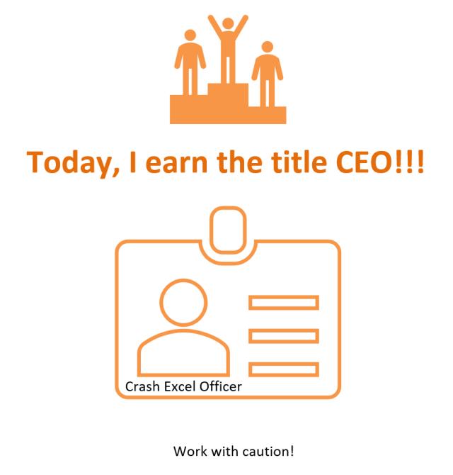 Excel Humor (11) - CEO 1