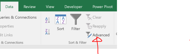 Excel Tips - Advanced Filter