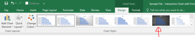 Excel Tips - Interactive Chart with Form Controls5