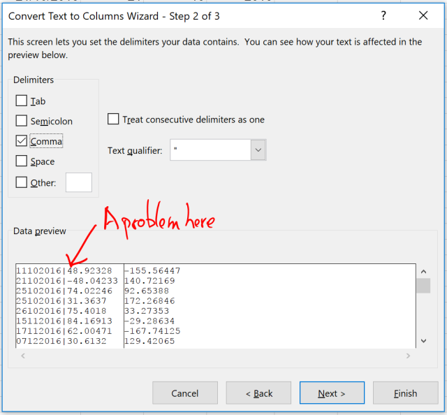 Exce Tip - Text to Columns_Delimited 1.1