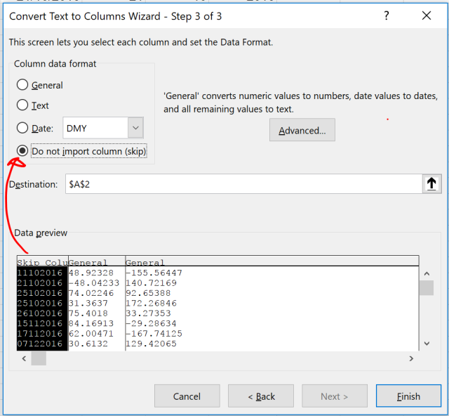 Exce Tip - Text to Columns_Delimited 2