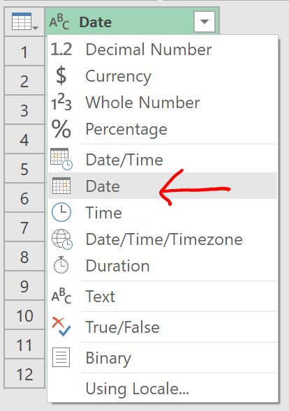 Excel Tips - Date format from text to number with PQ 7.1