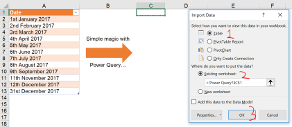 Excel Tips - Date format from text to number with PQ 8.1