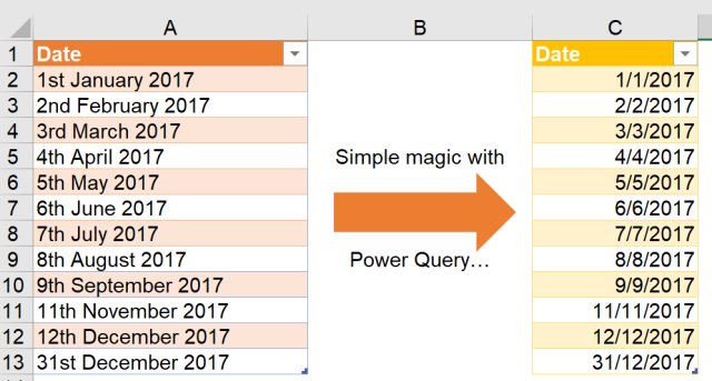 Excel Tips - Date format from text to number with PQ