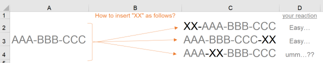 Excel Tips - Insert string