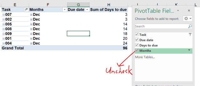 Excel tip - due date 16