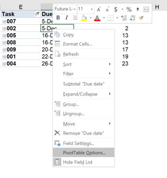 Excel tip - due date 19