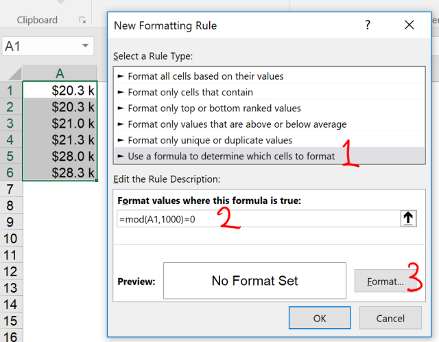 Excel Tip - Excel Format with Conditions 4