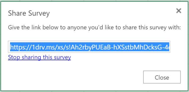 Excel Tips - Online Survey11
