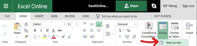 Excel Tips - Online Survey3