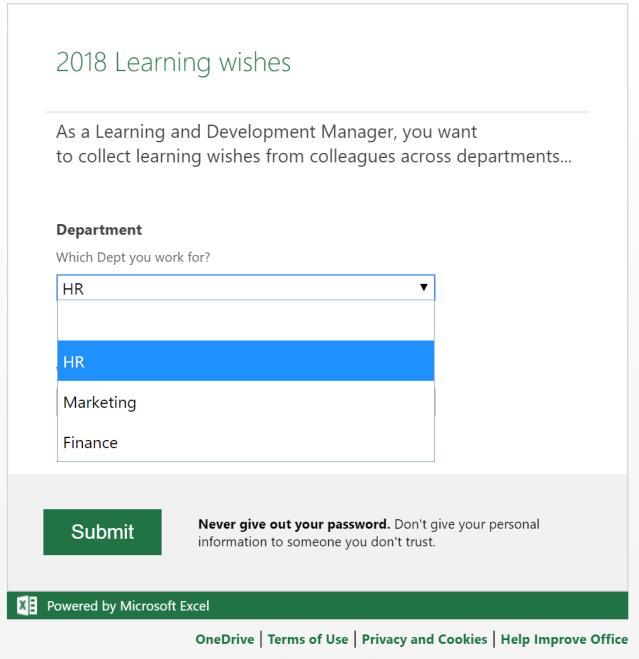 Excel Tips - Online Survey6