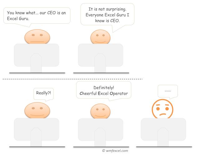 Excel Humor (13) - CEO(2)