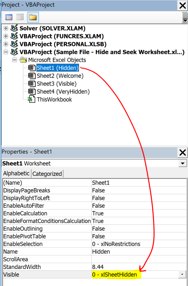 Excel Tip - Hide and Seek Worksheet4.3