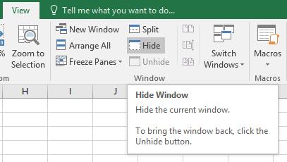 Excel Tip - Unhide workbook1
