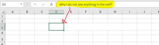 Excel Tips - Hide and Seek Cell Content