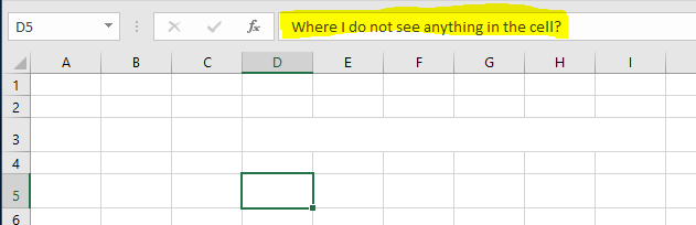 Excel Tips - Hide and Seek Cell Content1