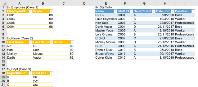 Excel Tip - Complicated vlookup with PQ