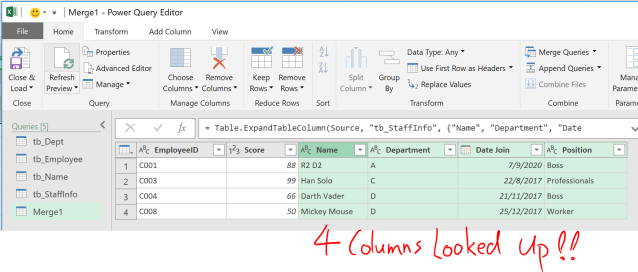 Excel Tip - Complicated vlookup with PQ3.5
