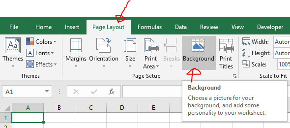 Excel Tips - Insert worksheet background2
