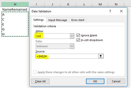 Excel Tips - Dynamic Shrinking List with Dynamic Arrays 8