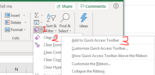 Excel Tips - Shortcuts customization in QAT2