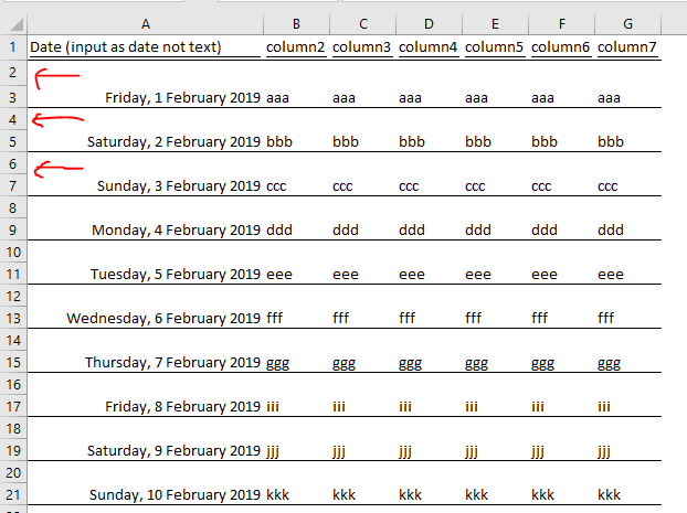 excel tip - highlight weekends and ph_part2.1