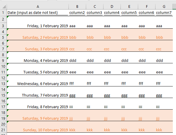 excel tip - highlight weekends and ph_part2.16