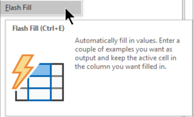 Excel Tip - Flash Fill