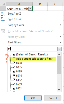 Example Tip - Add current selection to filter