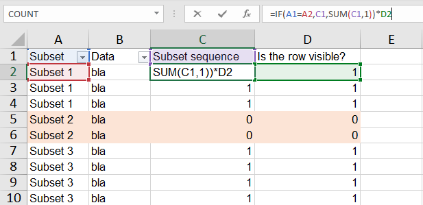 Excel Tip - CF to make color bands4