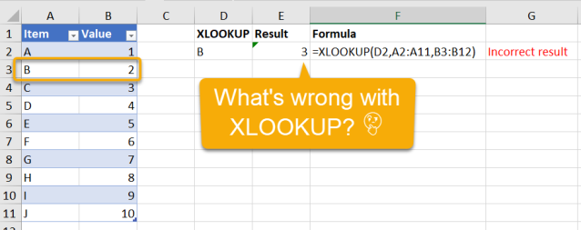 Excel Tip - Be cautious when using XLOOKUP