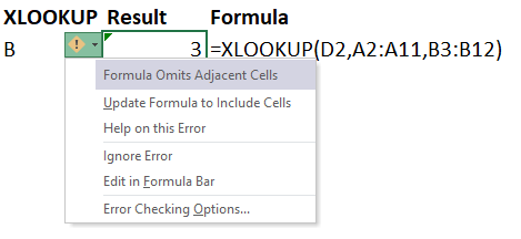 Excel Tip - Be cautious when using XLOOKUP4