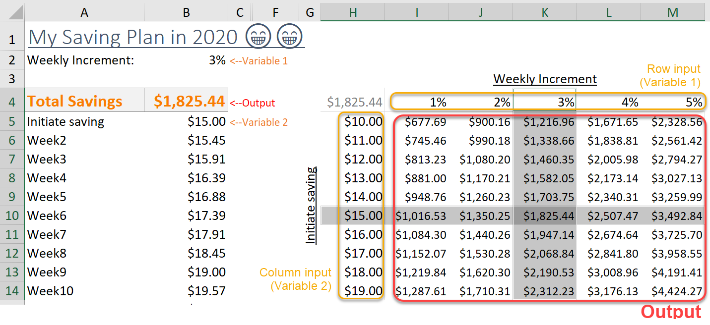 Excel Tips - TwoWay Table 1