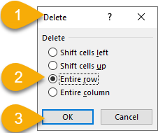 Excel Tip - Delete rows with empty cells 3