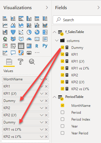Power BI Trick - Insert Blank Column6